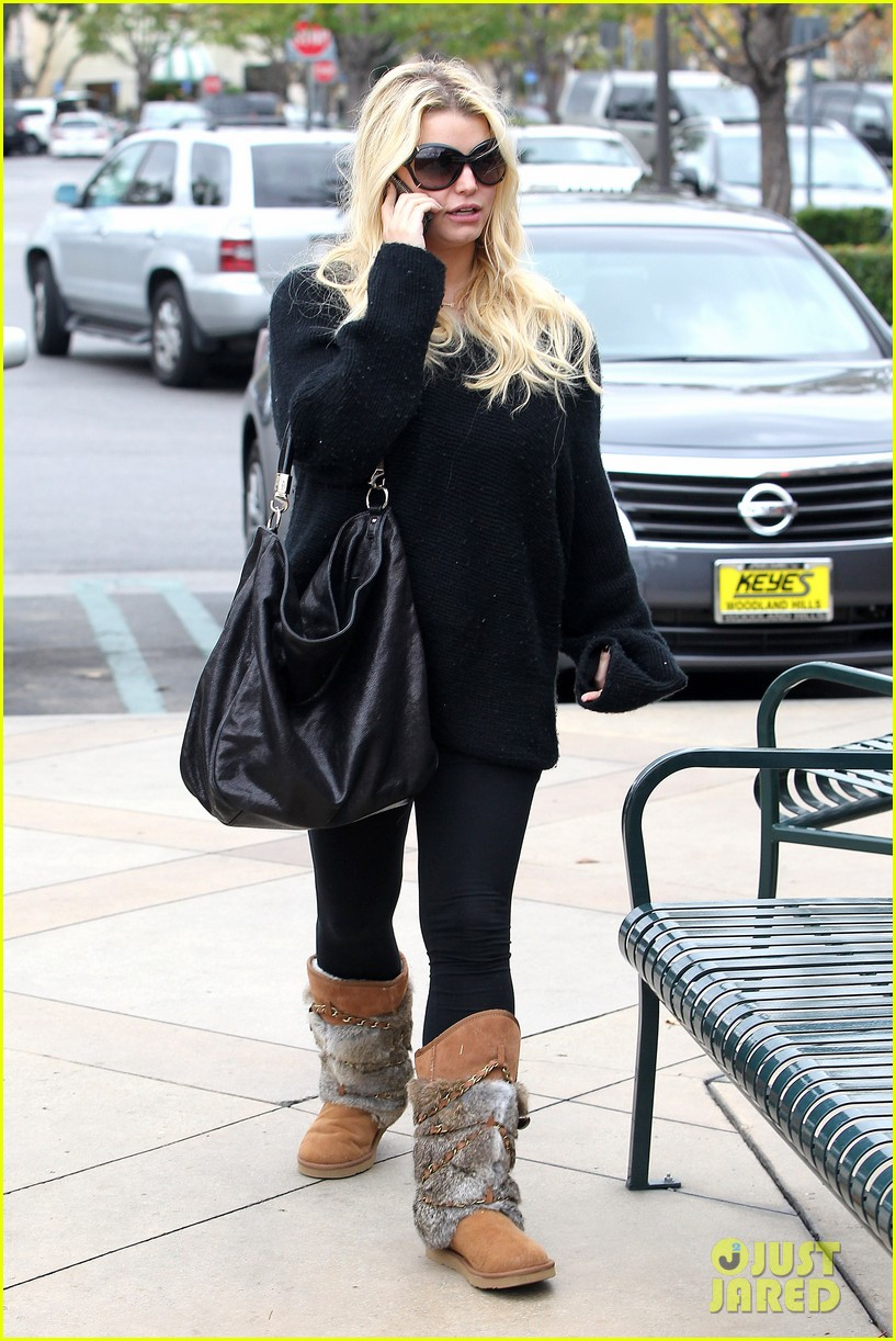 jessica simpson eric johnson kings fish house lunch 14