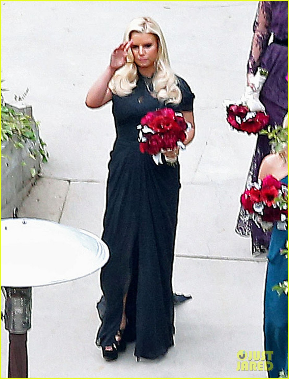 jessica simpson bridesmaid at cacee cobb wedding 02