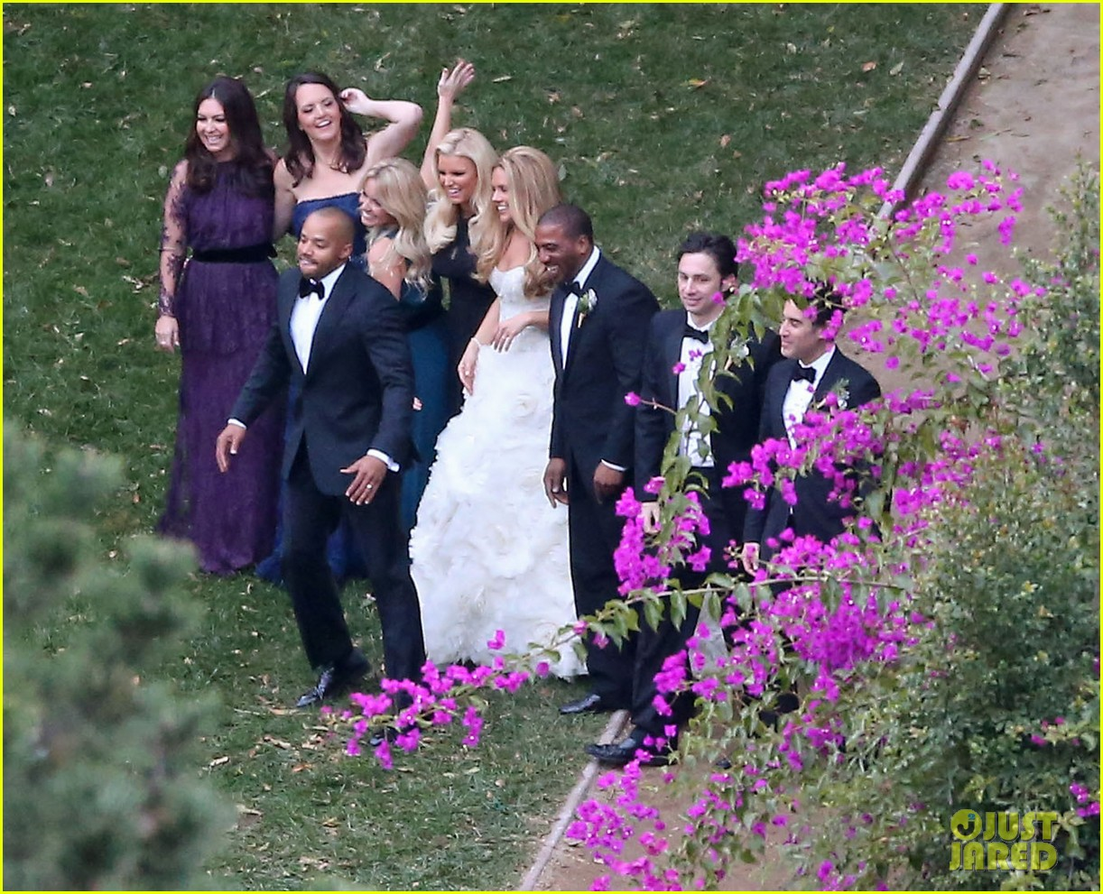 jessica simpson bridesmaid at cacee cobb wedding 09