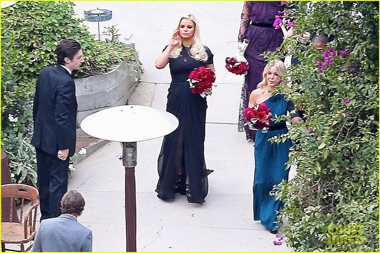 jessica simpson bridesmaid at cacee cobb wedding 122776616