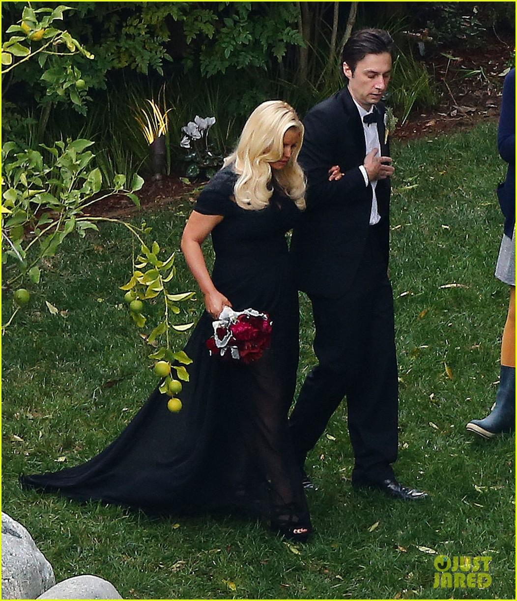 jessica simpson bridesmaid at cacee cobb wedding 202776624