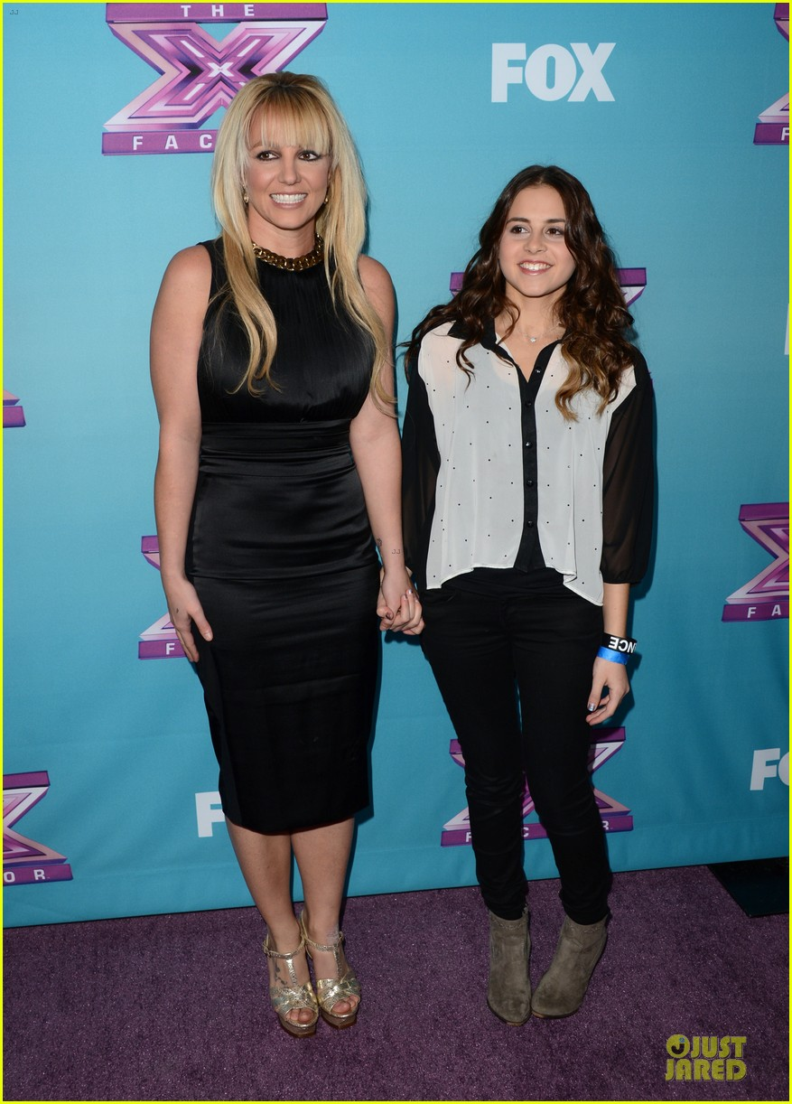 britney spears & demi lovato x factor finale conference 222777445