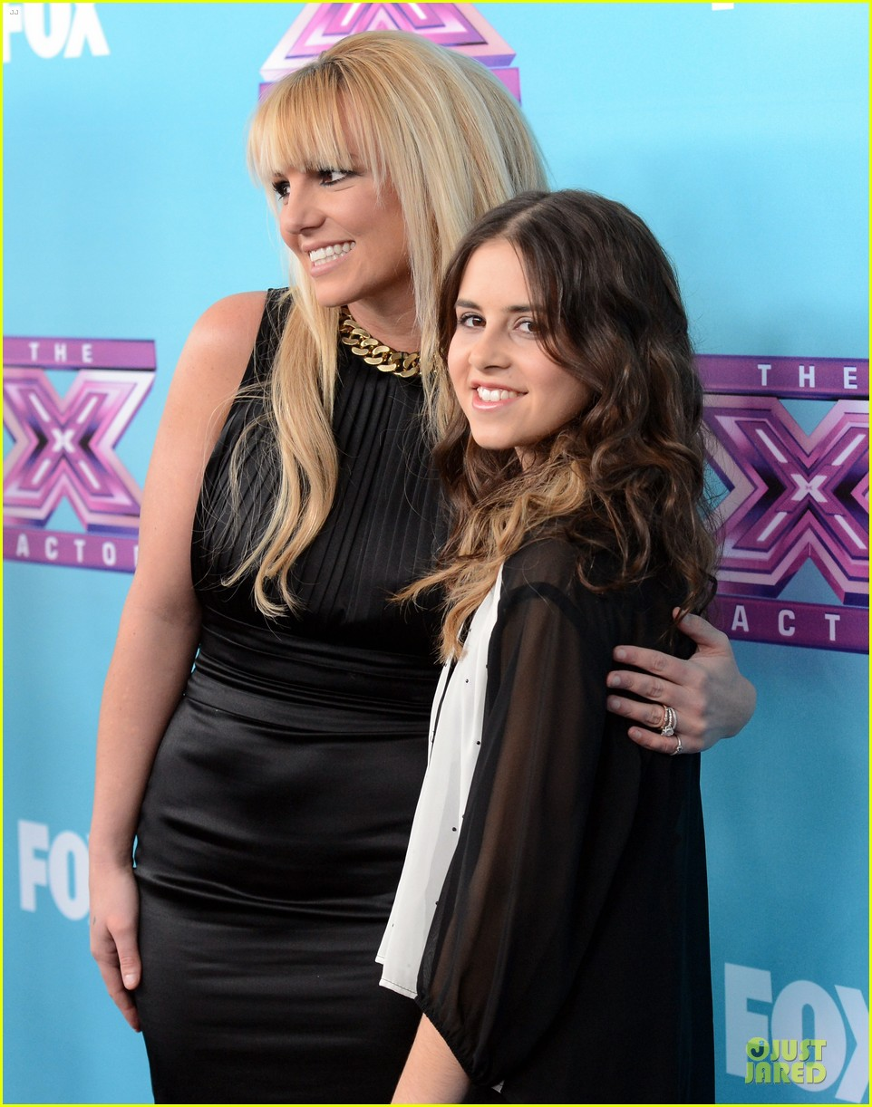 britney spears & demi lovato x factor finale conference 23