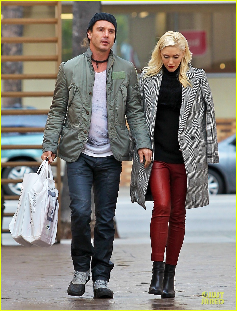 gwen stefani & gavin rossdale holiday shopping couple 012778192