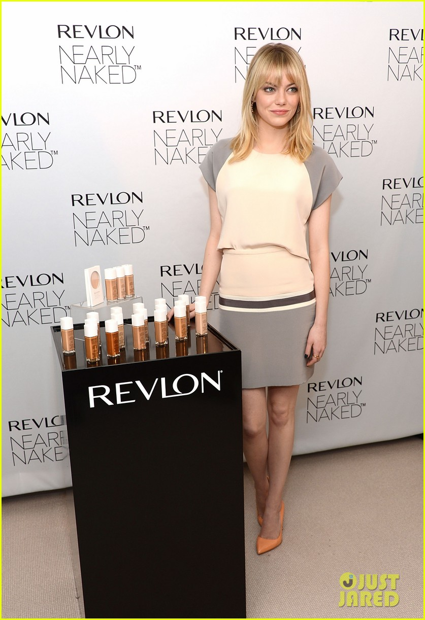 emma stone revlons nearly naked makeup launch 032769650