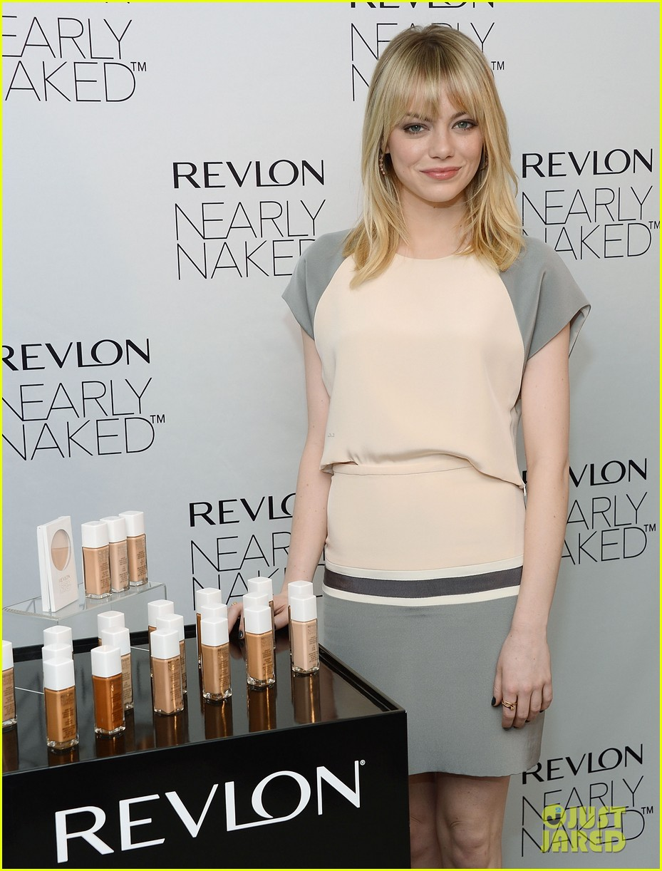 emma stone revlons nearly naked makeup launch 062769653