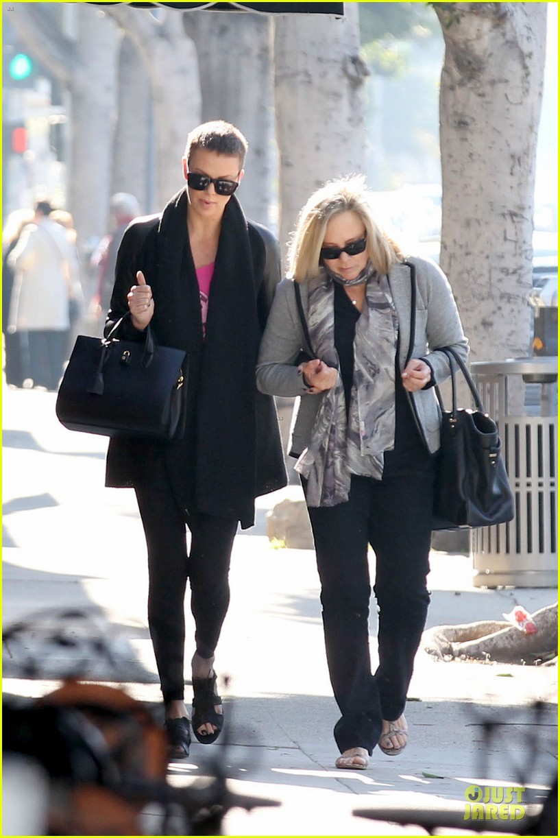 charlize theron pampers mother gerda 082779675