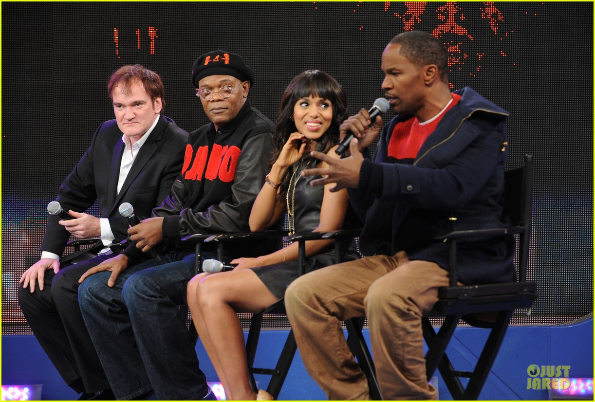 kerry washington & jamie foxx 106 & park appearance 032776277