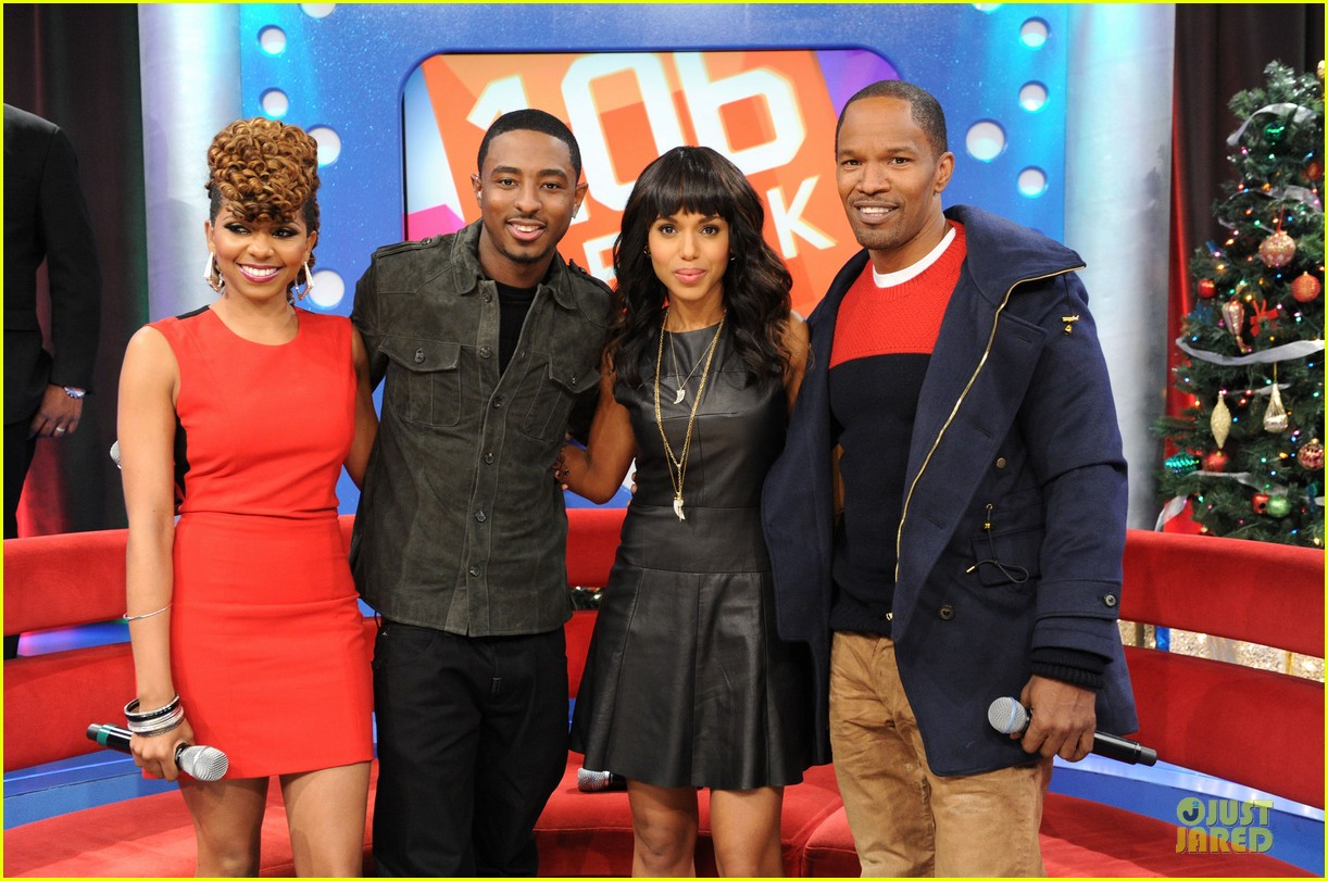 kerry washington & jamie foxx 106 & park appearance 062776280
