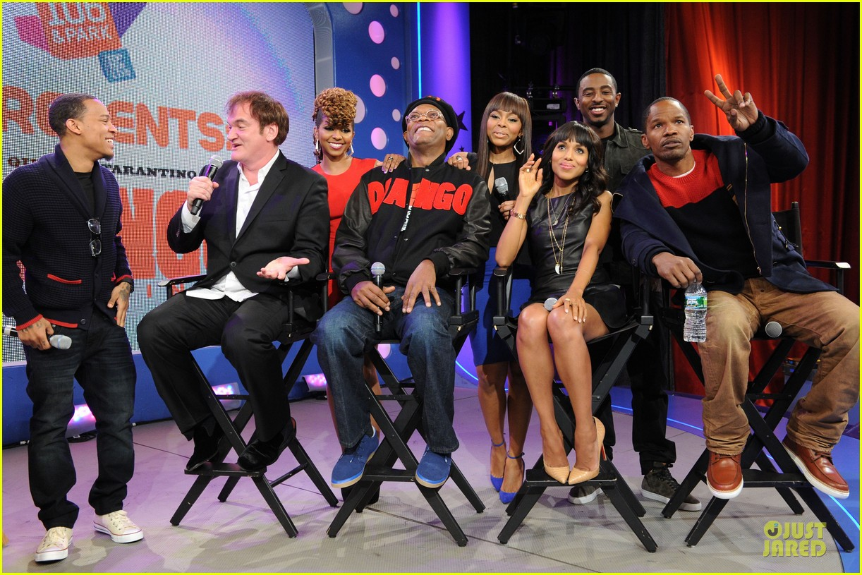 kerry washington & jamie foxx 106 & park appearance 082776282
