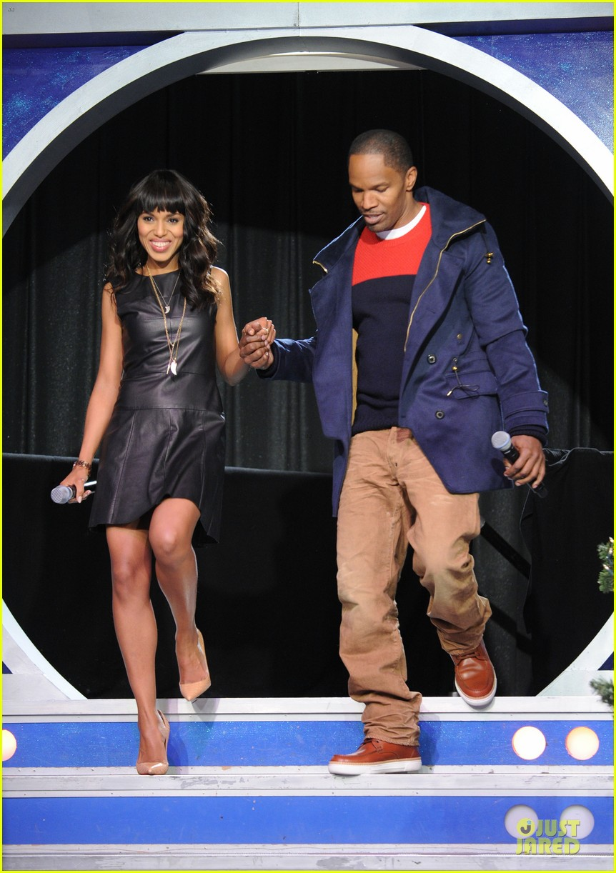 kerry washington & jamie foxx 106 & park appearance 15