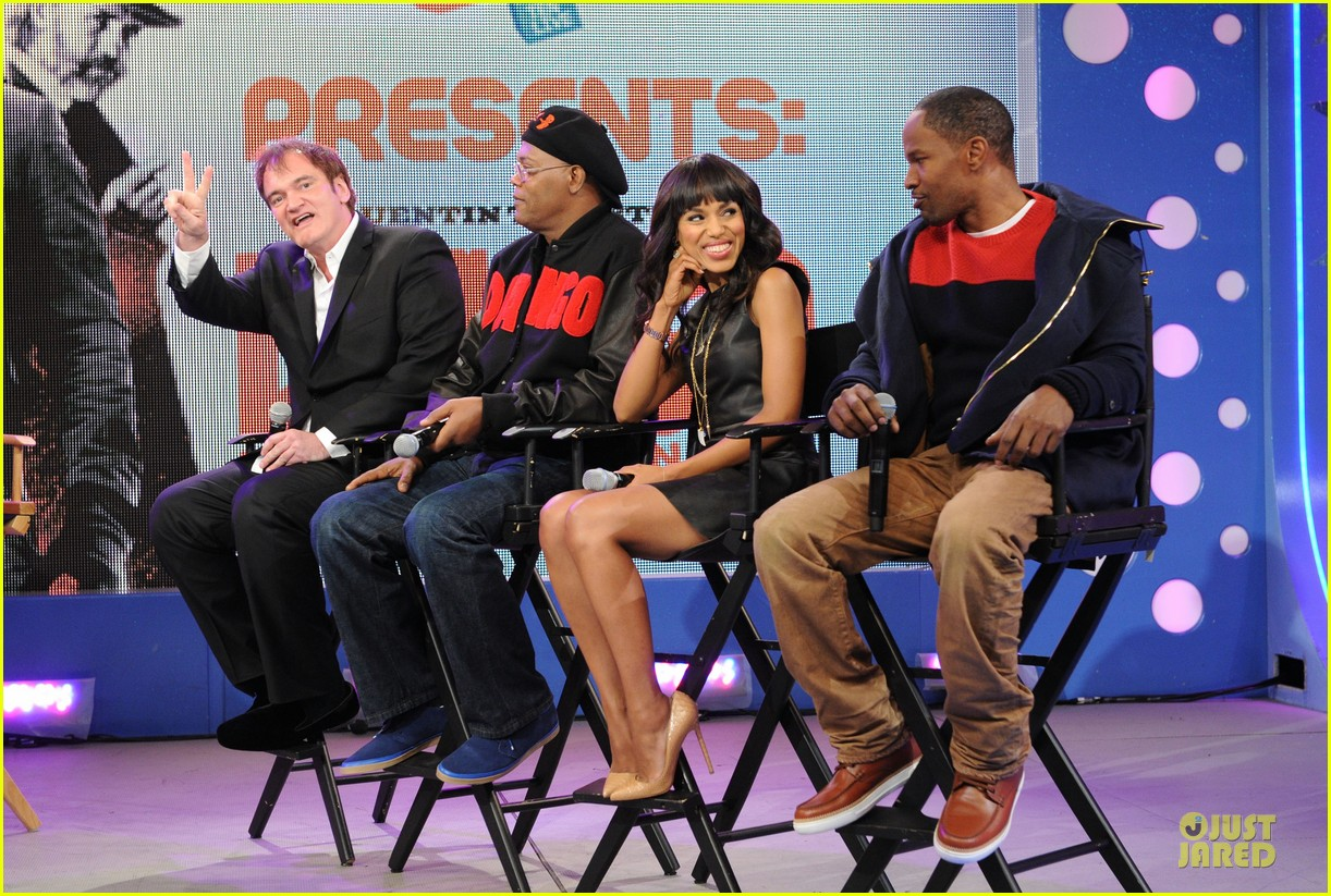 kerry washington & jamie foxx 106 & park appearance 182776292