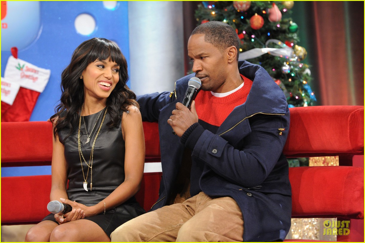 kerry washington & jamie foxx 106 & park appearance 202776294