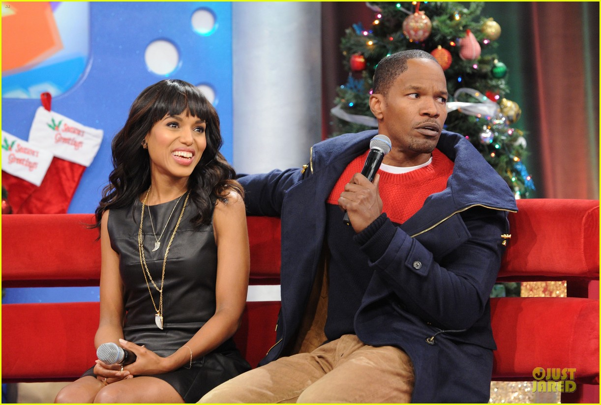 kerry washington & jamie foxx 106 & park appearance 24