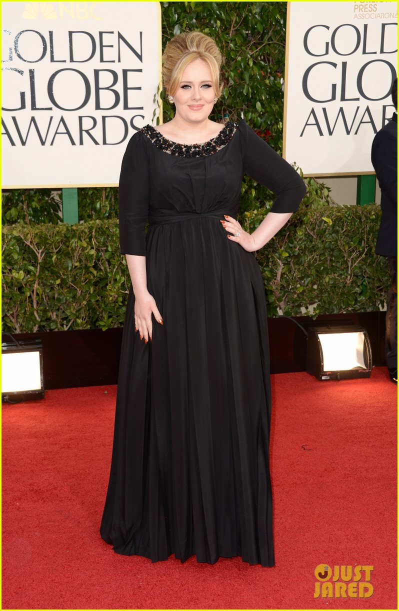 adele golden globes 2013 red carpet 032791037