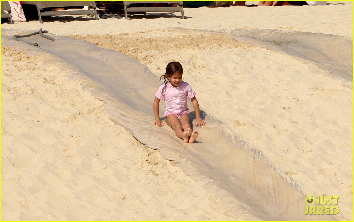 jessica alba cabo beach with shirtless cash warren 152784466