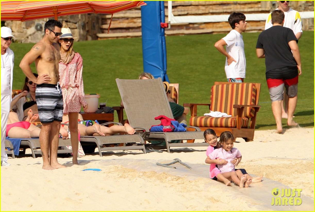 jessica alba cabo beach with shirtless cash warren 162784467