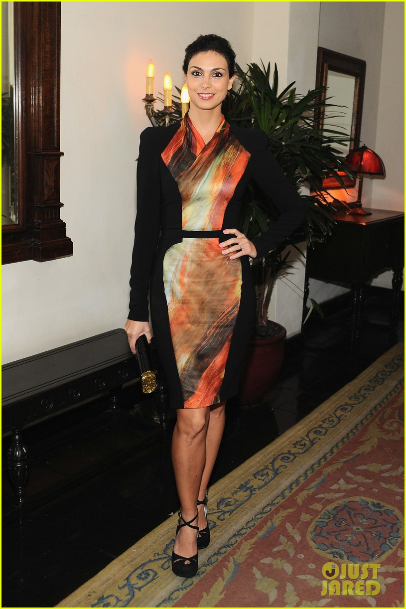 morena baccarin damian lewis w magazine pre golden globes party 012789829