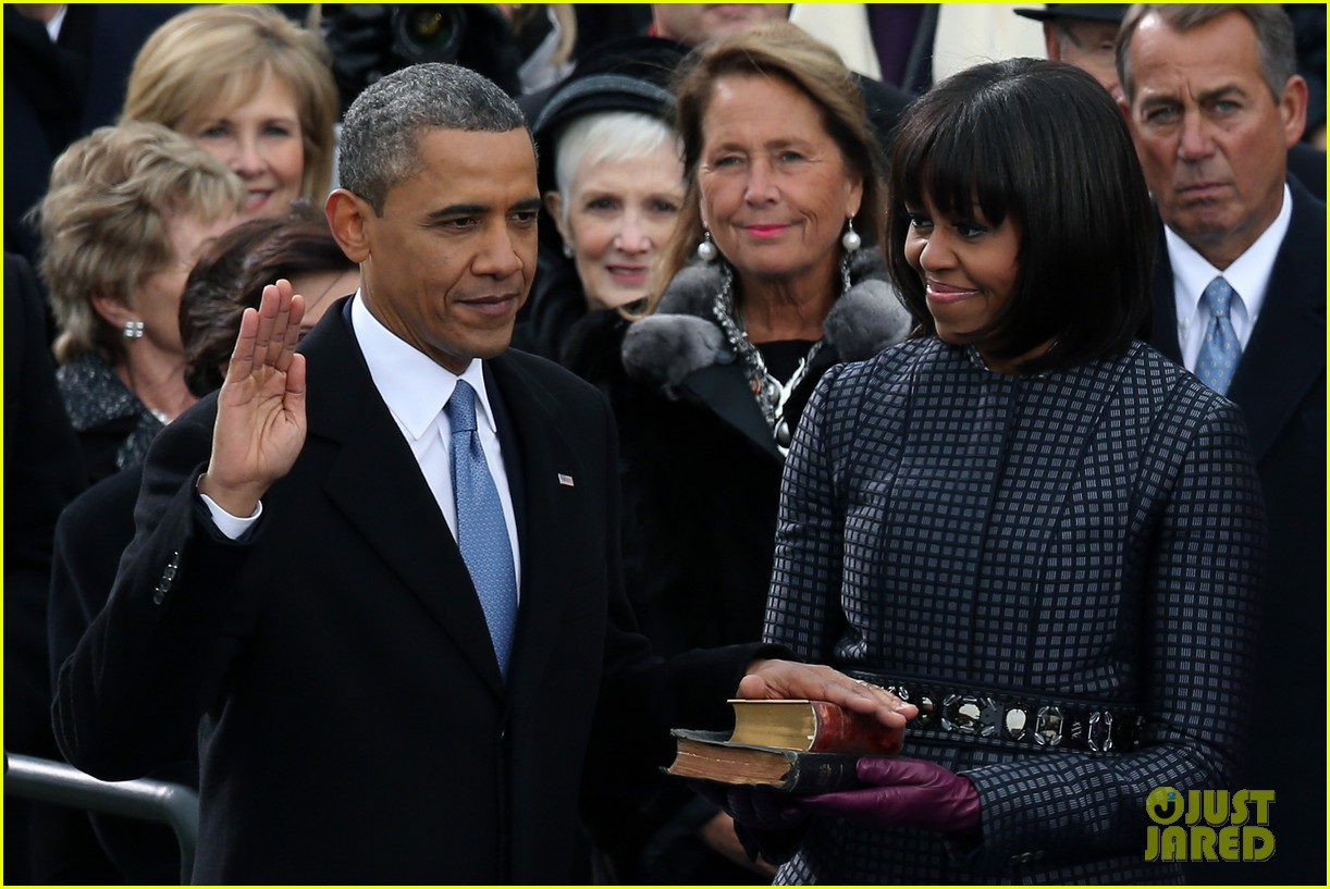 watch president obama being sworn in at second inauguration 062796123