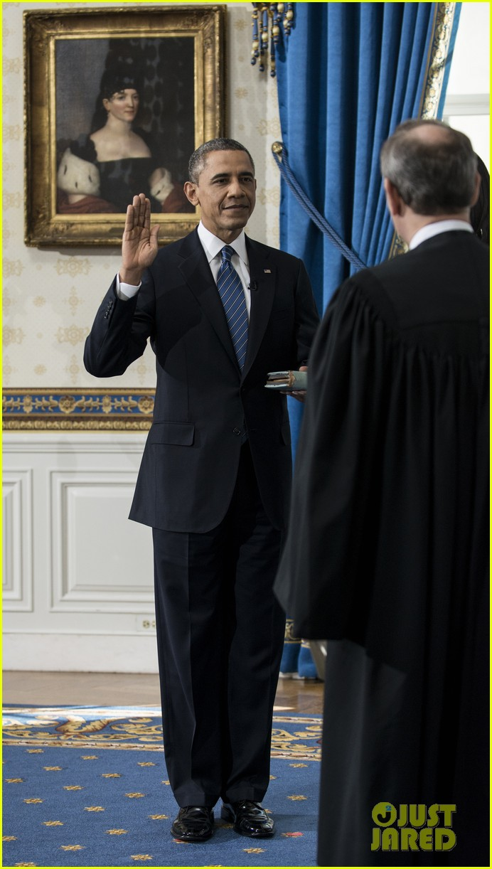 president barack obama sworn into office launches second term 112795402