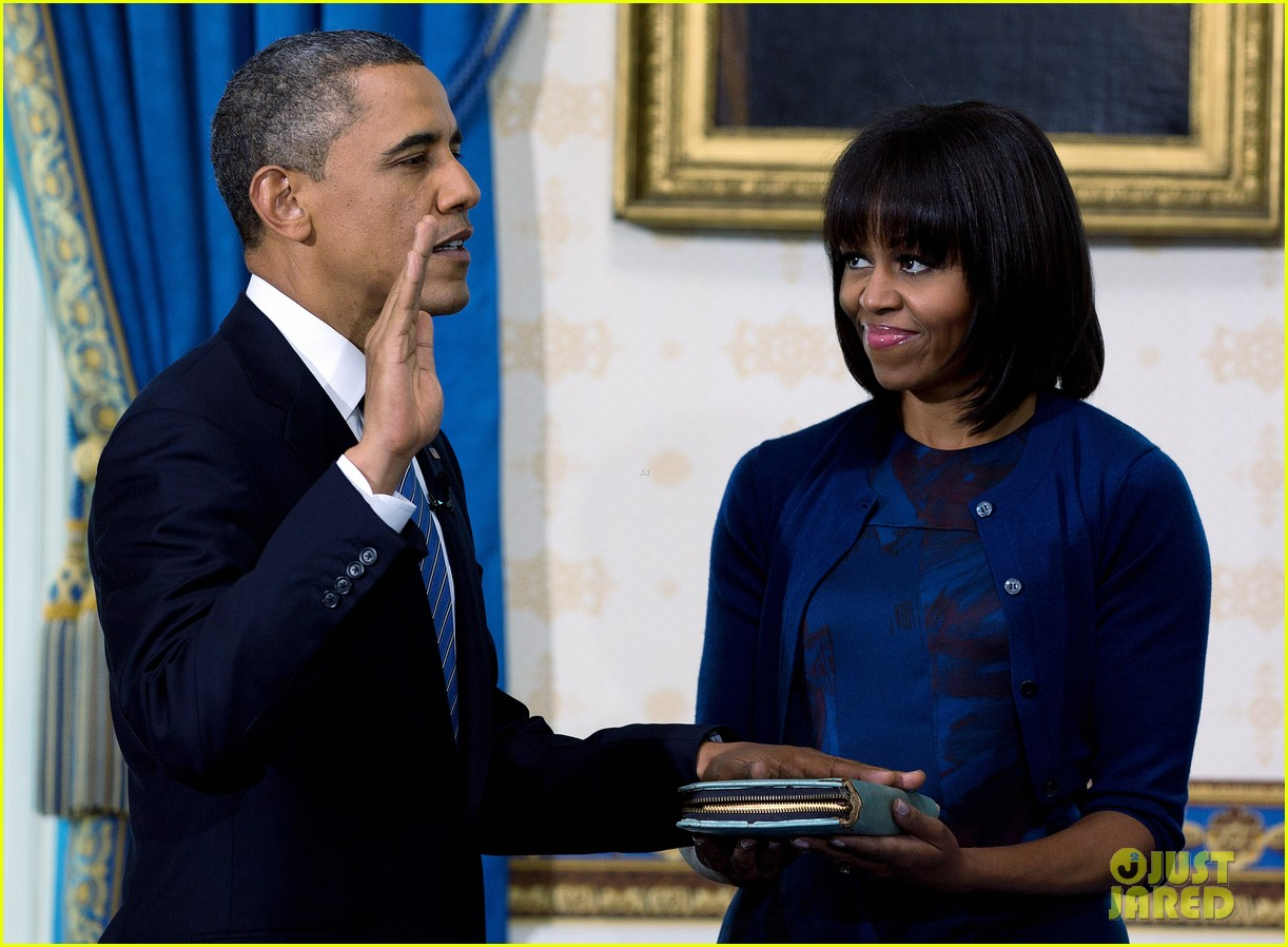 president barack obama sworn into office launches second term 232795414