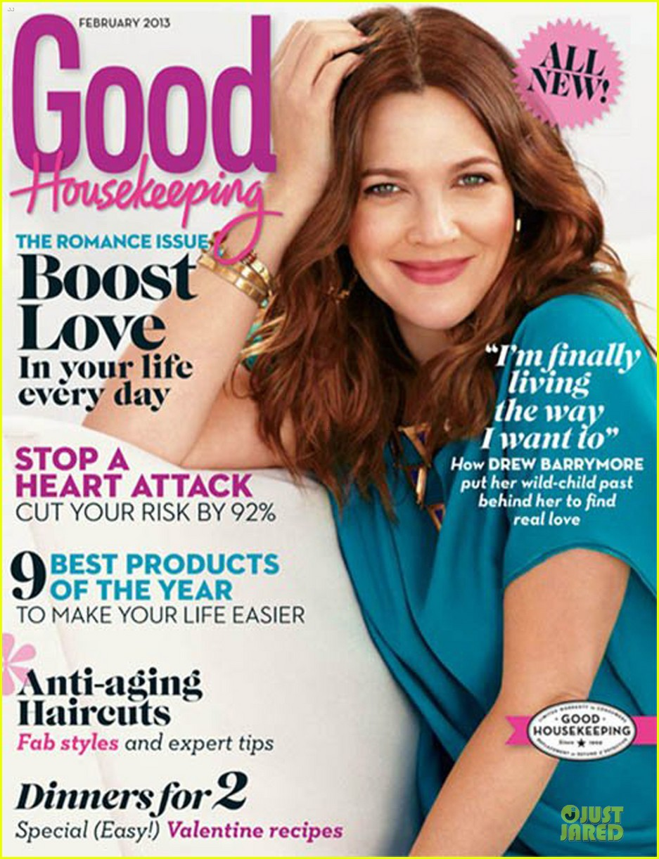 drew barrymore covers good housekeeping magazine february 2013 012792938