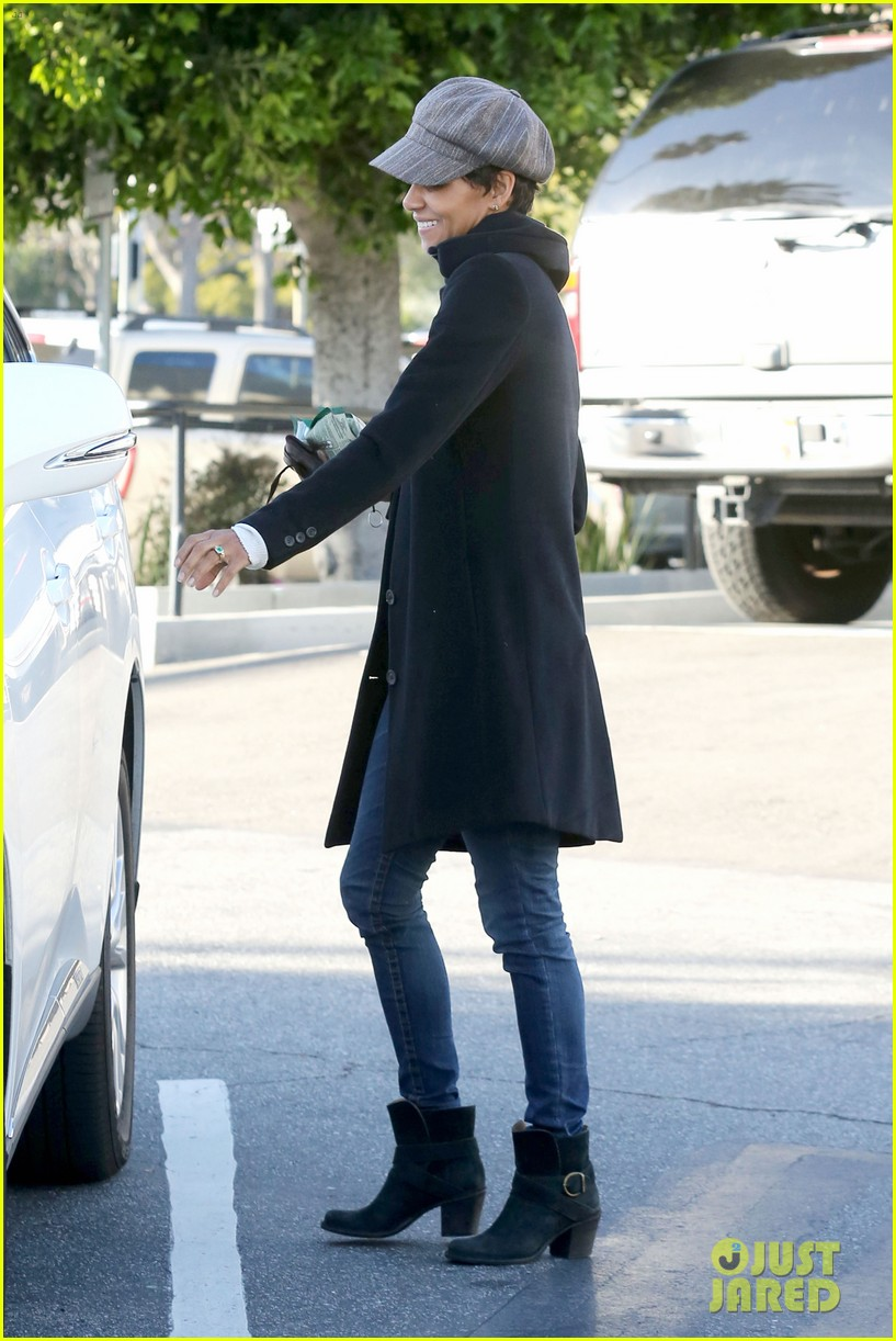halle berry back at the vet with pet cat 032801865