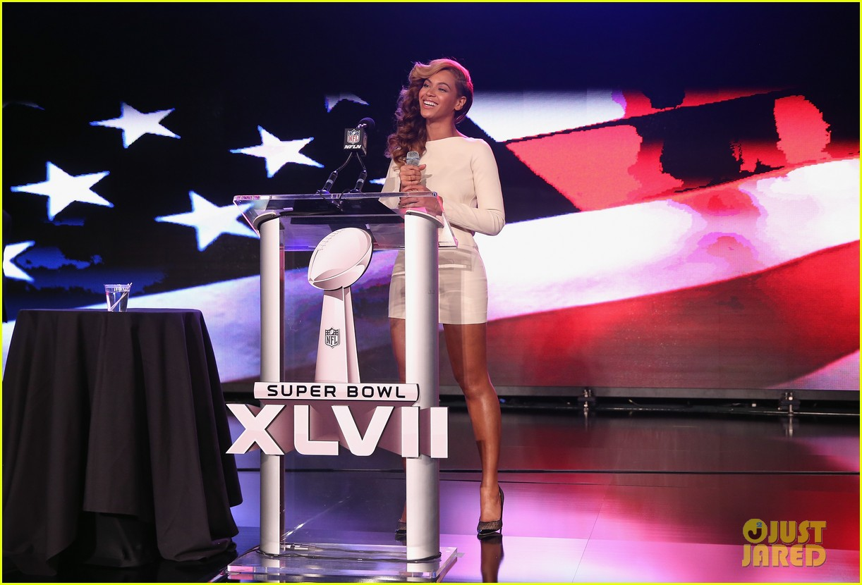 beyonce national anthem live at super bowl press conference 05