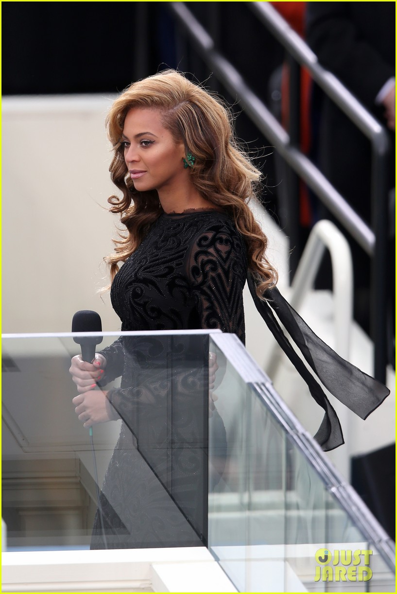 beyonce national anthem inauguration performance watch now 012796132