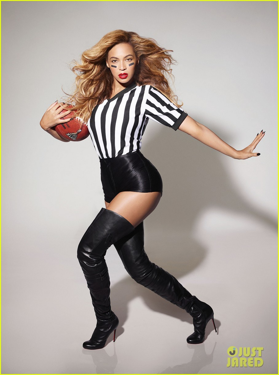 beyonce sexy referee for super bowl ad 01