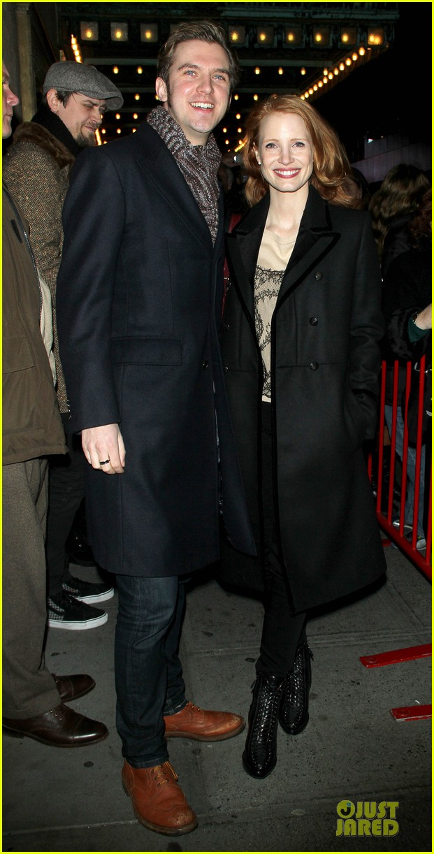 jessica chastain & dan stevens heiress autograph signing 012785941
