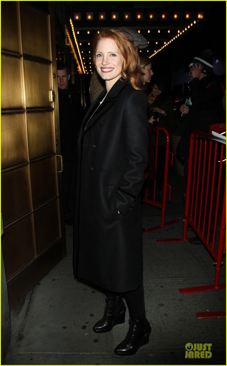 jessica chastain & dan stevens heiress autograph signing 032785943