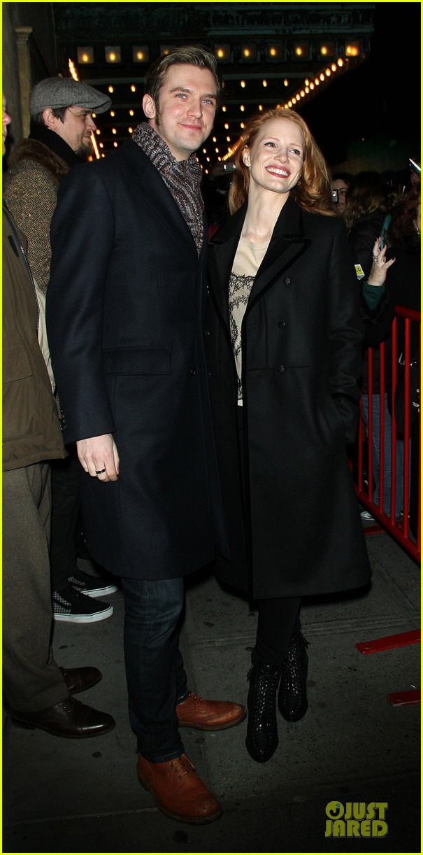 jessica chastain & dan stevens heiress autograph signing 052785945