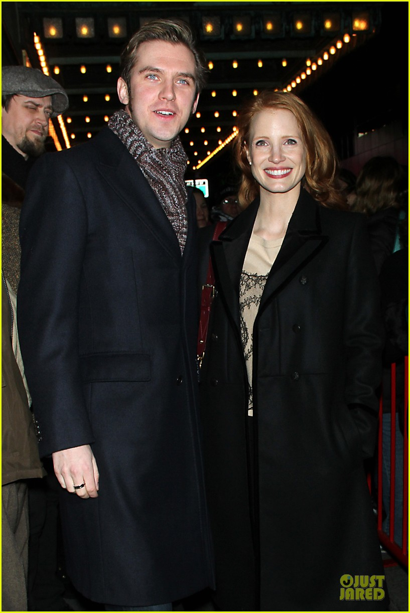 jessica chastain & dan stevens heiress autograph signing 132785953