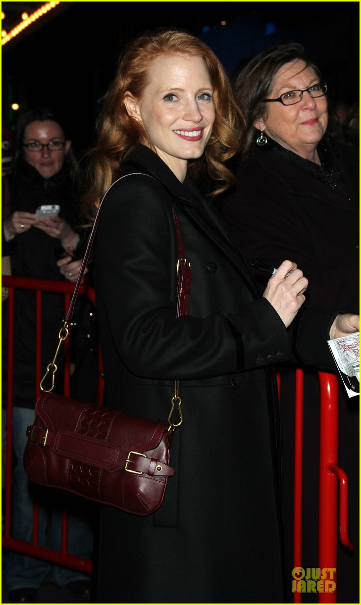 jessica chastain & dan stevens heiress autograph signing 172785957