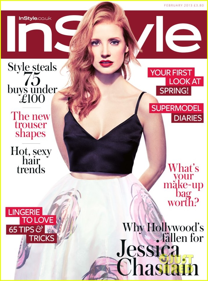 jessica chastain covers instyle uk february 2013 01