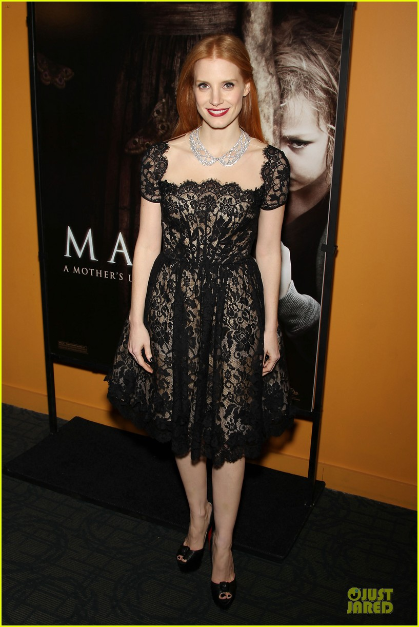 jessica chastain mama new york screening 16