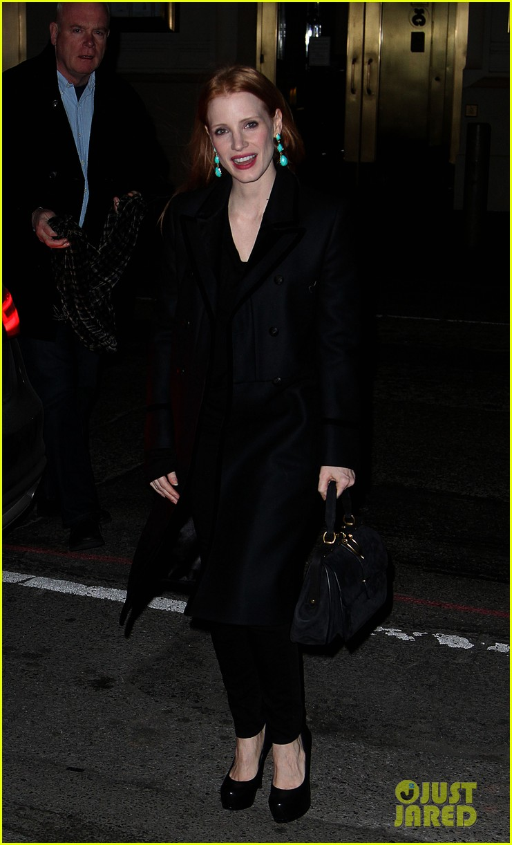 jessica chastain back to work after new years eve 012783837