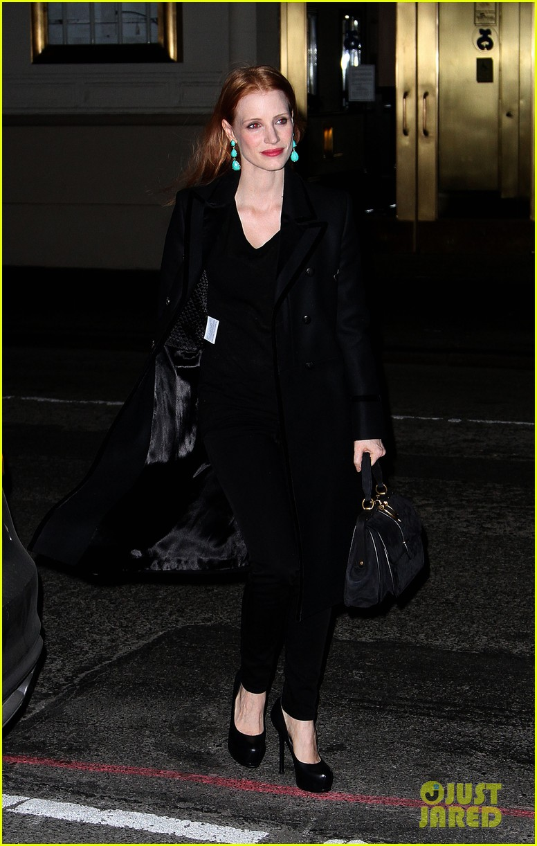 jessica chastain back to work after new years eve 032783839