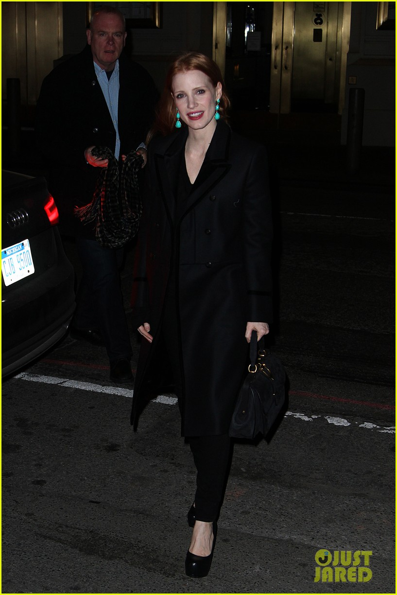 jessica chastain back to work after new years eve 05