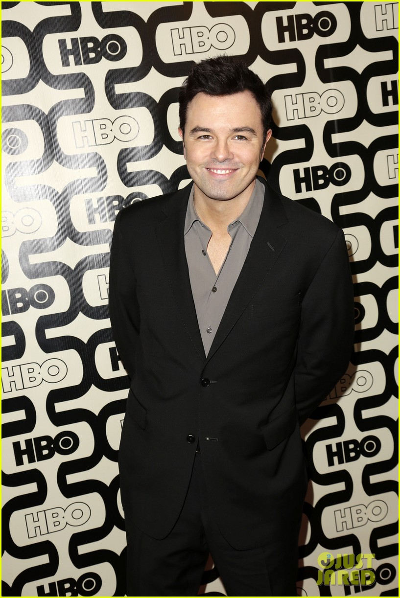 seth macfarlane emilia clarke hbo golden globes party 102792095