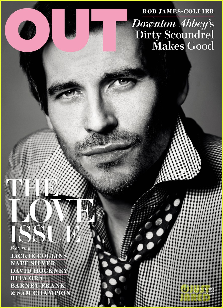 downton abbey rob james collier covers out magazine 032784609