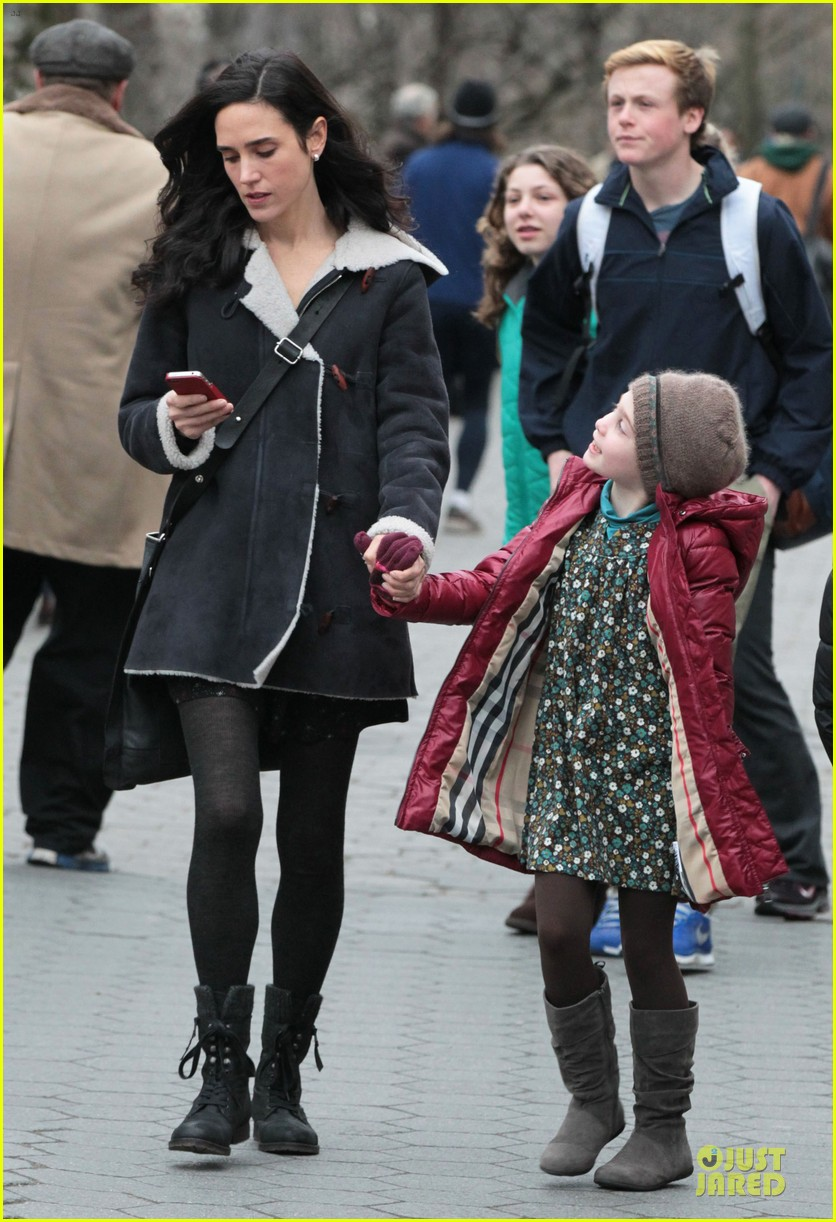 jennifer connelly agnes visits winters tale set 08