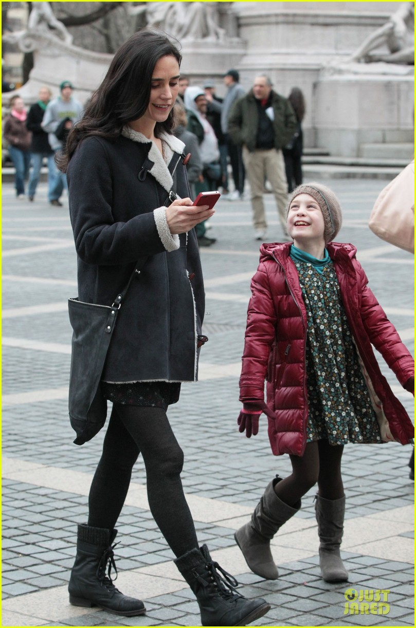 jennifer connelly agnes visits winters tale set 102792545