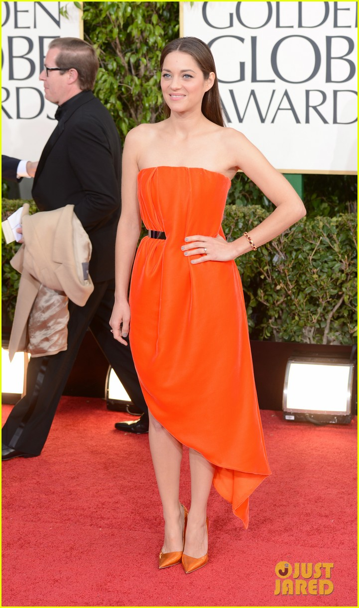 marion cotillard golden globes 2013 red carpet 062791286