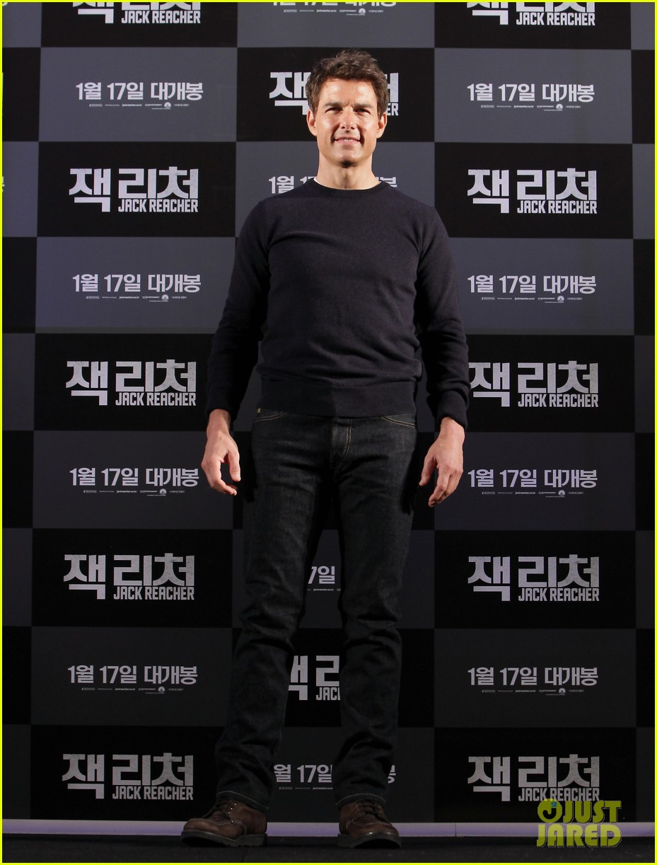 tom cruise rosamund pike jack reacher seoul photo call 232788118