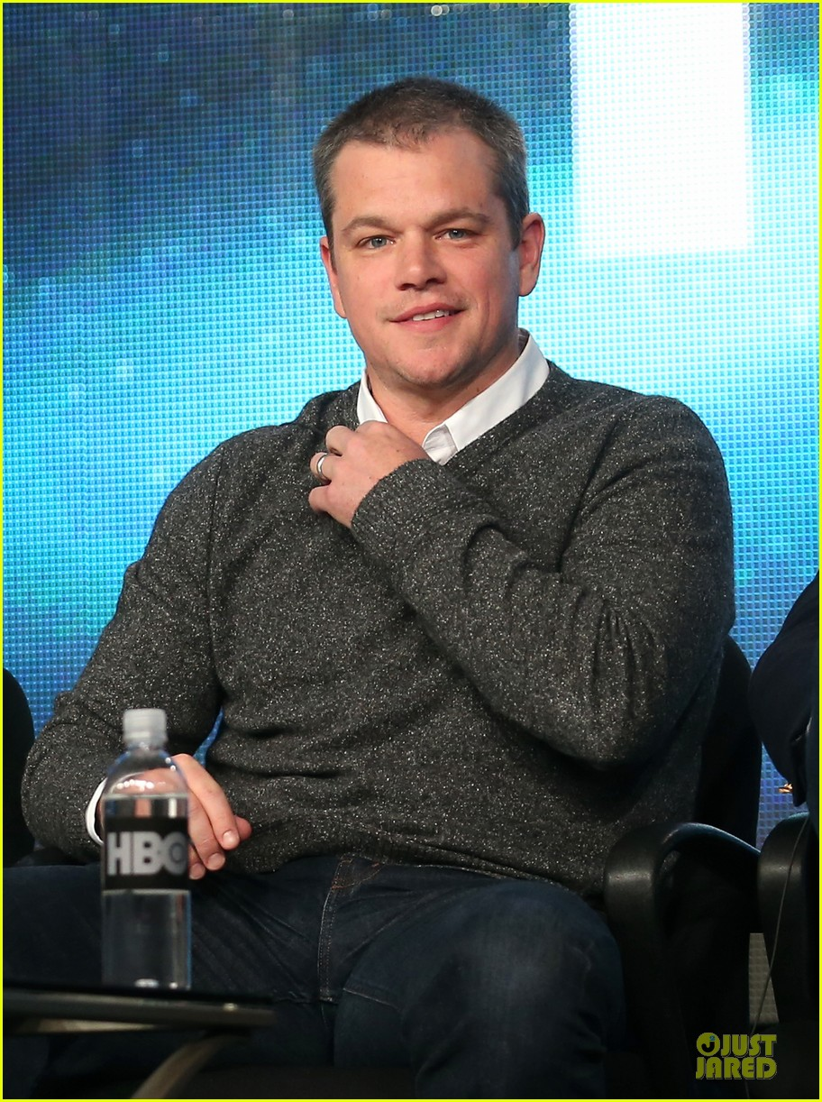 matt damon & michael douglas behind the candlebra tca panel 022784979
