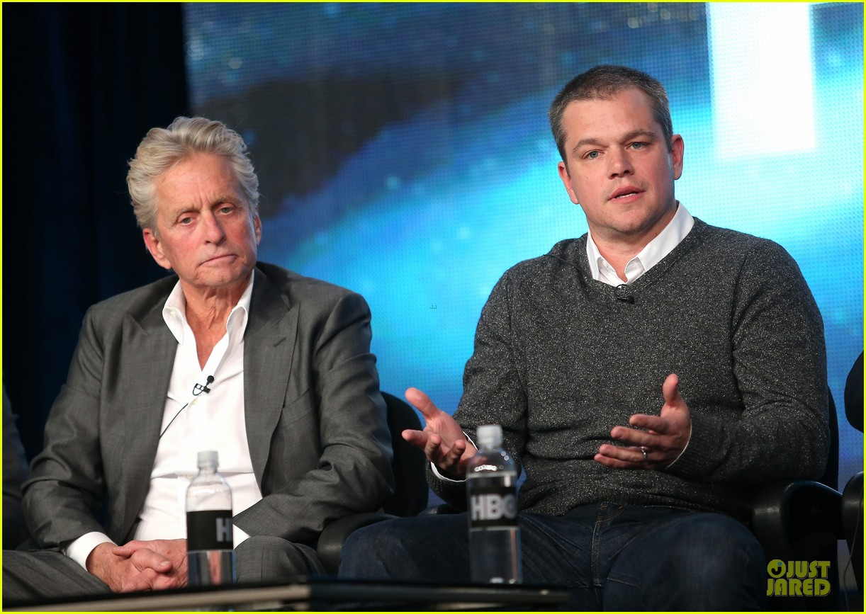 matt damon & michael douglas behind the candlebra tca panel 062784983