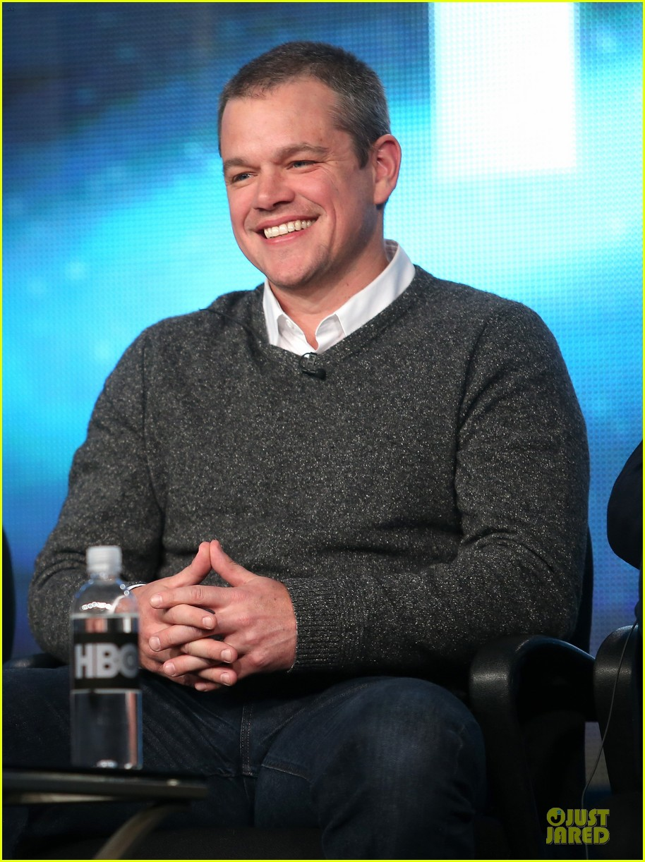 matt damon & michael douglas behind the candlebra tca panel 162784993