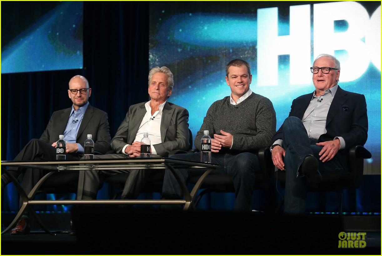 matt damon & michael douglas behind the candlebra tca panel 182784995